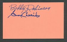1940's GENE COLLINS & BOBBY ROBINSON Negro League Baseball Autographs