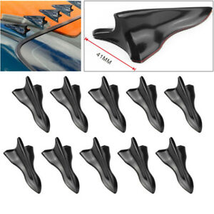 10PCS Roof Windshield Trim Kits Vortex Generator Diffuser Shark Fin Wing Spoiler