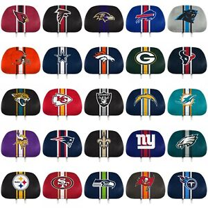 NFL Football Automotive Car Truck Color Printed Headrest Cover - 2 Pack