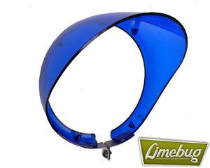 "Mooneyes Wing Mirror Fender Visor Blue Round 4"" VW Beetle Buggy Hotrod T1 Golf"