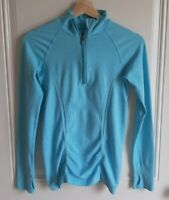 Athleta Womens Workout Geode Blue Fast Track Half Zip Pullover Top Shirt Size XS