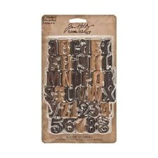 Tim Holtz idea-ology Letterpress 35 Letters & Numbers