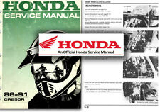 Honda CR250R Service Workshop Repair Shop Manual CR250 R 1986 to 1991 CR 250