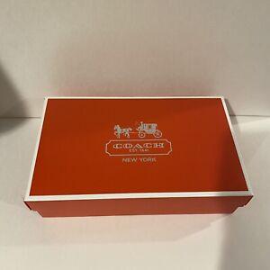"Coach Gift Box 10.25"" X 6.25"" X 2.5"" Paper Box NEW"