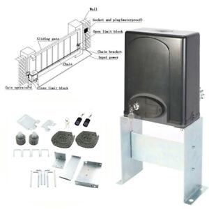 Automatic Sliding Slide Gate Opener Hardware Driveway 1400LBS Door Operator Kit.