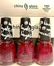 CHINA GLAZE NAIL POLISH # 83989 WHERE'S THE PARTY CANON AT? 0.5OZ 3, BOTTLES1533