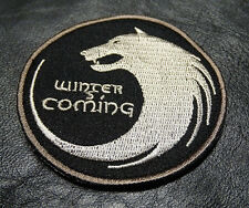 WINTER IS COMING GAME OF THRONES HOUSE STARK TACTICAL HOOK WOLF PATCH