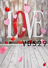 Valentine's Day Love Vinyl Photography Background Studio Props Photo Backdrops