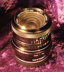 FUJIFILM FX adapted EBC Fujinon 28mm f3.5 SW Manual Focus Prime Lens – for Fuji