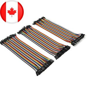 120 Piece Pin Dupont Jumper Wire Set 20cm M/F M/M F/F, Male and Female 40 Each