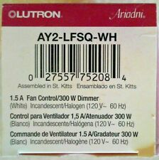 Lutron AY2-LFSQ-WH Toggler 3-Speed Combo Fan & Light Control, White 300w New
