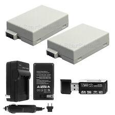 2x LP-E8 Battery + Charger for Canon EOS T3i T2i 600D LP-E8 LC-E8E + Bonus