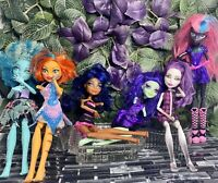 Monster High 6 Doll Lot Swamp Honey Spectra Catty Noir Toralei Nightshade Steam