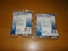 """100 Plastic Insulated Staples Size 1/2"""" L. G. Sourcing ( 2 bags of 50 )"""