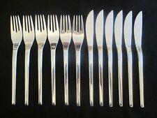WMF Helsinki 90 Silber Fischbesteck 12 Teile 6 Fischmesser + 6 Fischgabel TOP