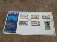 1971 Jersey First Day Cover / FDC - Definitives upto 9p