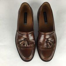 Bostonian Men Slip On Shoes Sz 8 Brown Loafer Moc Toe Kilt Tassel Leather Italy
