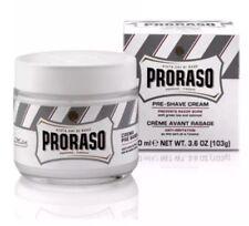 Proraso Pre Shave Cream White 100ml - For Sensitive Skin