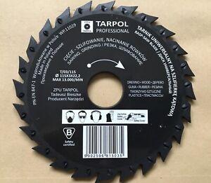 Tarpol Saw Blade Wood Rubber Plastics 115 x 3 x 22,2