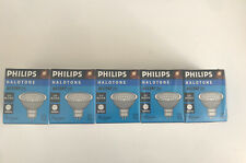 5 Pack PHILIPS HALOGEN MR16 50 WATT LAMPS  BULBS 12V