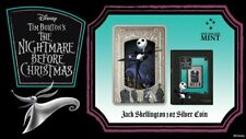 2021 Niue The Nightmare Before Christmas Jack Skellington 1oz Silver Coin Bar