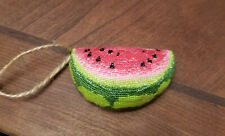 Finished Completed Cross Stitch Water Melon Slice Pincushion Ornament