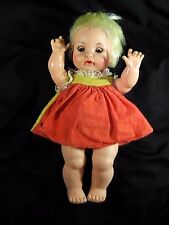 """Vintage 60's Ideal Open Mouth Doll Sleepy Eyed 9.5"""""""
