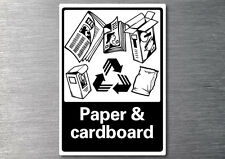 Recycling Paper & cardboard sticker 7yr vinyl commercial office industrial