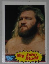 Big John Studd WWF 1985 Topps Card #12 WWE Pro Wrestling Hall of Fame Legend HOF
