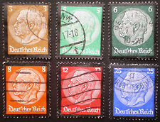 Germany 1934 III Reich Scott #436 - 441 Hindenburg complete set VFU