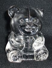 PartyLite Teddy Bear Glass Tealight Holder - P0580