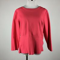 J Crew XL knit top salmon exposed back zip long sleeve