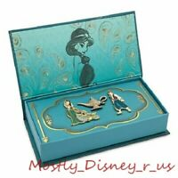 New Disney Store Aladdin D23 Art of Jasmine Pin Brooch Set Limited Edition 1000