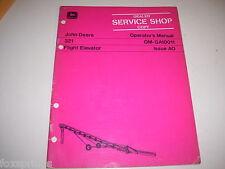 John Deere 321 Flight Elevator Operator's manual - Ms13