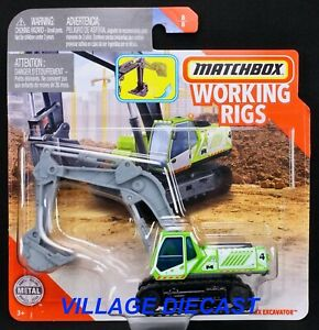 2020 Matchbox Working Rigs MBX Excavator™ GREEN / MBOX REAL WORKING RIGS / MOC