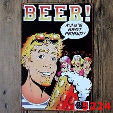 Metal Tin Sign beer!  Decor Bar Pub Home Vintage Retro Poster Cafe ART