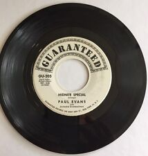 PAUL EVANS, MIDNITE SPECIAL, GUARANTEED#205, 45 PROMO RECORD, 1959
