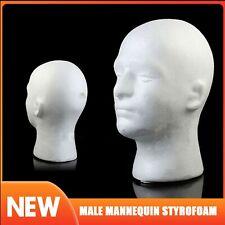 Male Styrofoam Foam Mannequins Head Model Wigs Glasses Hat Display Show Stand