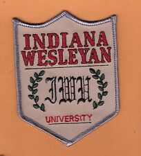 OLD LG CLASSIC 4 1/2 inch PATCH INDIANA WESLEYAN UNIVERSITY UNUSED STOCK