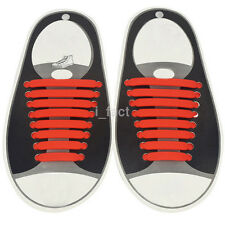 16pcs Lazy No Tie Shoelaces Elastic Silicon Shoe Laces For Running Sneakers Hot