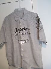 """DESIGNER """"BYBLOS"""" NEW LINEN SHIRT. MADE IN ITALY. EU SIZE- 54, US -XL"""