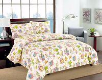 Tache Cotton Quiet Morning Garden Floral Cream Colorful Flowers Duvet Cover Set
