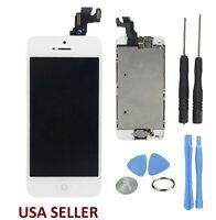 New White Iphone 5S LCD Touch Digitizer Glass Screen Assembly with Home Button