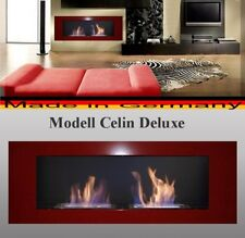 Bio Ethanol Fireplace Celin-Deluxe Red / Incl 2 reg.Stainless Steel Burners -