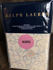 Nip Ralph Lauren Madalena Audrey King Pillow Sham Tan Pink Blue $115