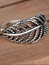 925 silver feather memory love dainty adjustable ring jewellery present gift