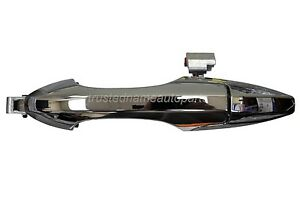 Exterior Outer Outside Door Handle Chrome Finish Driver Side Rear