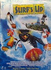 """SURF'S UP """"A MAJOR OCEAN PICTURE"""" ASIAN MOVIE POSTER- Shia LaBeouf, Jeff Bridges"""