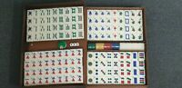 Standard Mah Jong Set 148 tiles Complete Set Cream White With Carry Case NEW