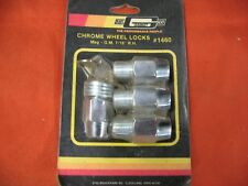 "MR GASKET 1460 CHROME WHEEL LOCKS G.M. 7/16"" RH FOR MAG WHEELS"